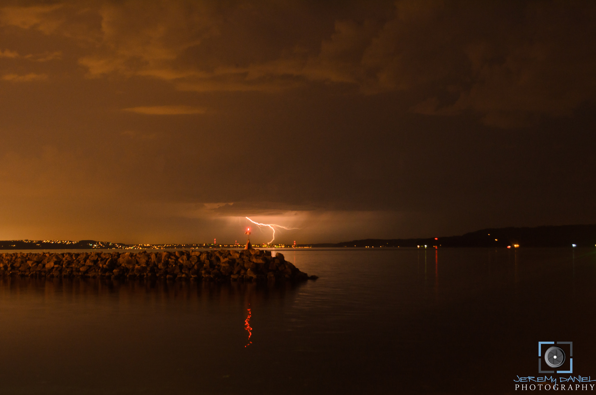 Photograph Lightning Over Gig Harbor Wa - July 13th 2012 by Jeremy Barry on 500px