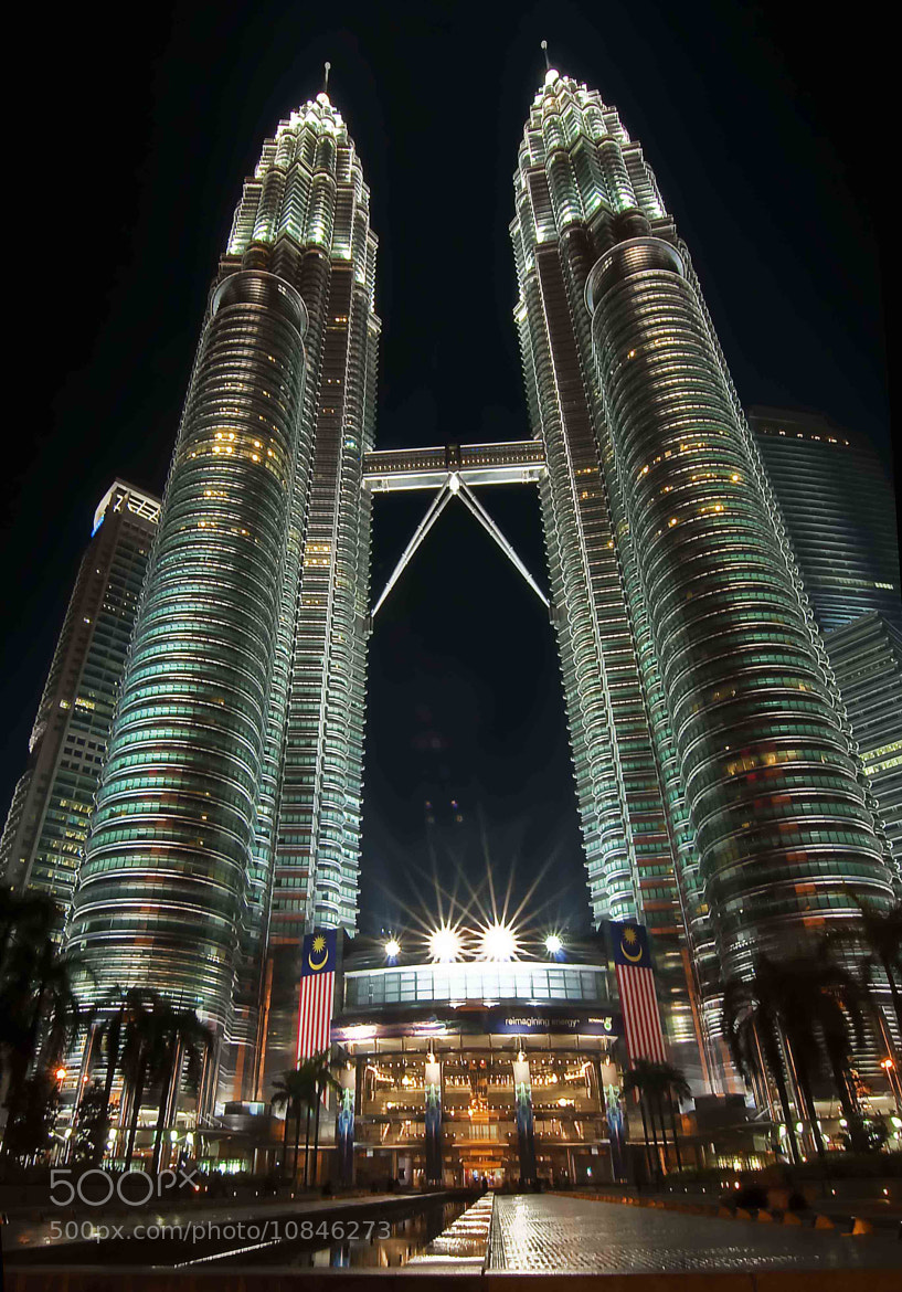 Photograph Twin Tower at Night by Roslan Salleh on 500px