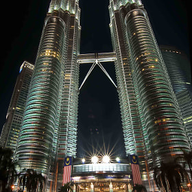 Twin Tower at Night by Roslan Salleh (RoslanSalleh)) on 500px.com