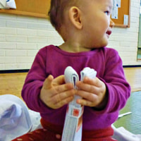 One Year Old Starting Her Karate Career By Opening Belt