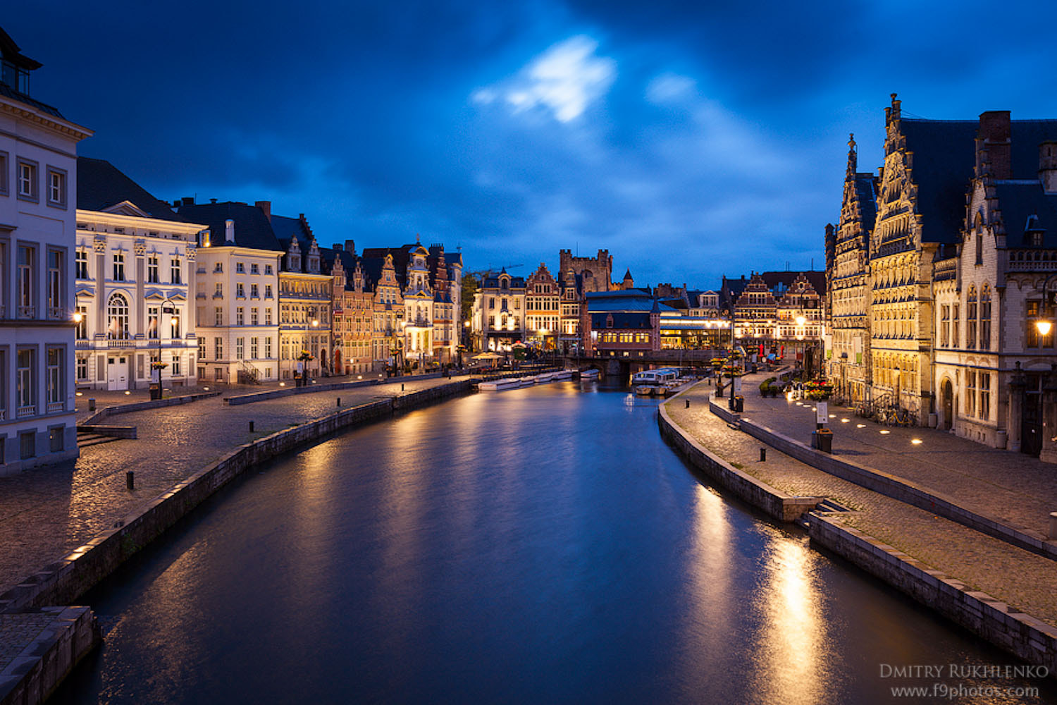 Photograph Evening view of Graslei in Ghent, Belgium by Dmitry Rukhlenko | www.f9photos.com on 500px