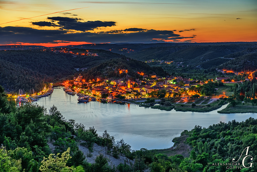 Skradin lulled into the valley of the river Krka before sleep