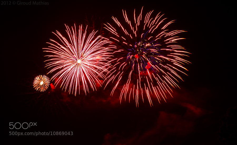 Photograph Fireworks by Giroud Mathias on 500px