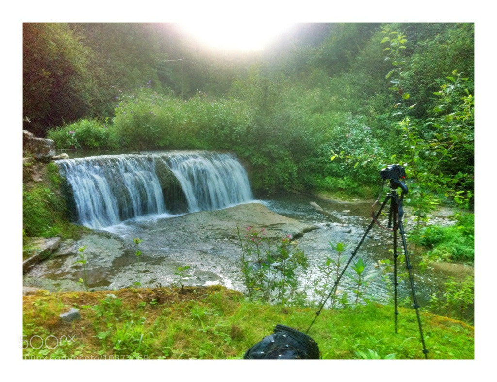 Photograph Waterfall and tripod by Stephan Scherz on 500px