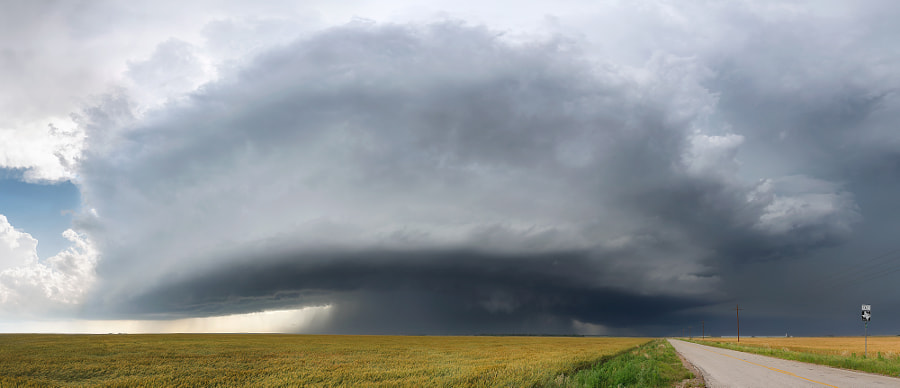 Photograph Odell Supercell Panoramic by Kelly DeLay on 500px
