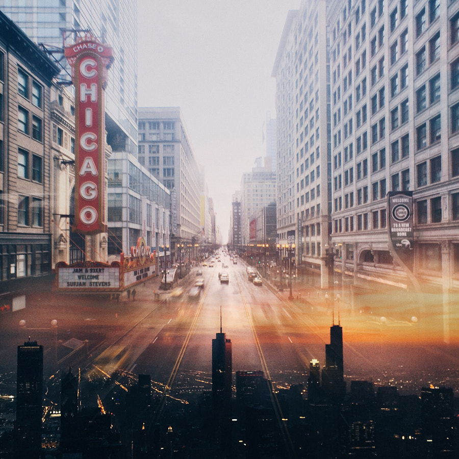 Photograph Double Exposure Chicago Series  by Cocu Liu on 500px