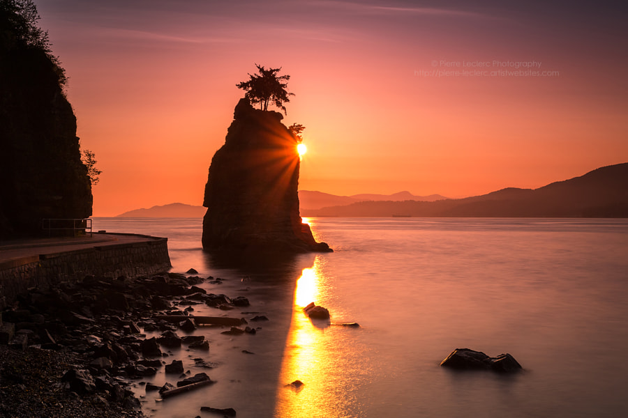Photograph Siwash Rock at Sunset by Pierre Leclerc on 500px