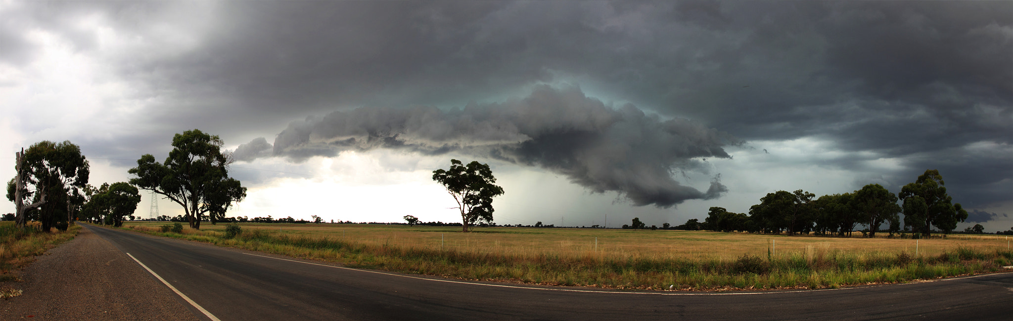 Photograph Severe Thunderstorm Panorama by Greg Thomas on 500px