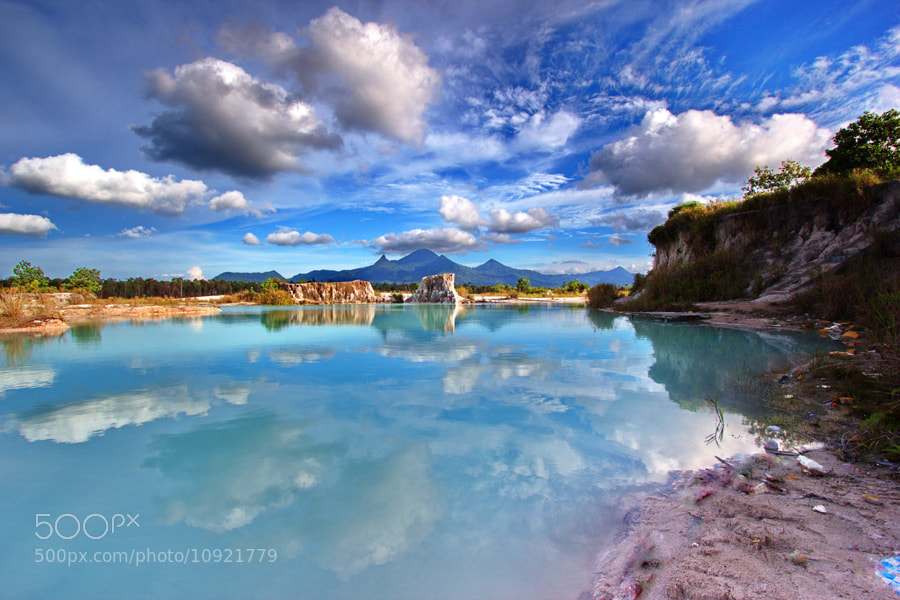 Photograph Reflections in Blue Lake  by Erwin Julian Lie on 500px