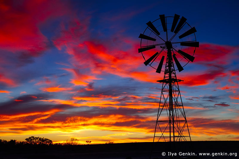 Photograph Windmill at Sunset in Australian Outback by Ilya Genkin on 500px