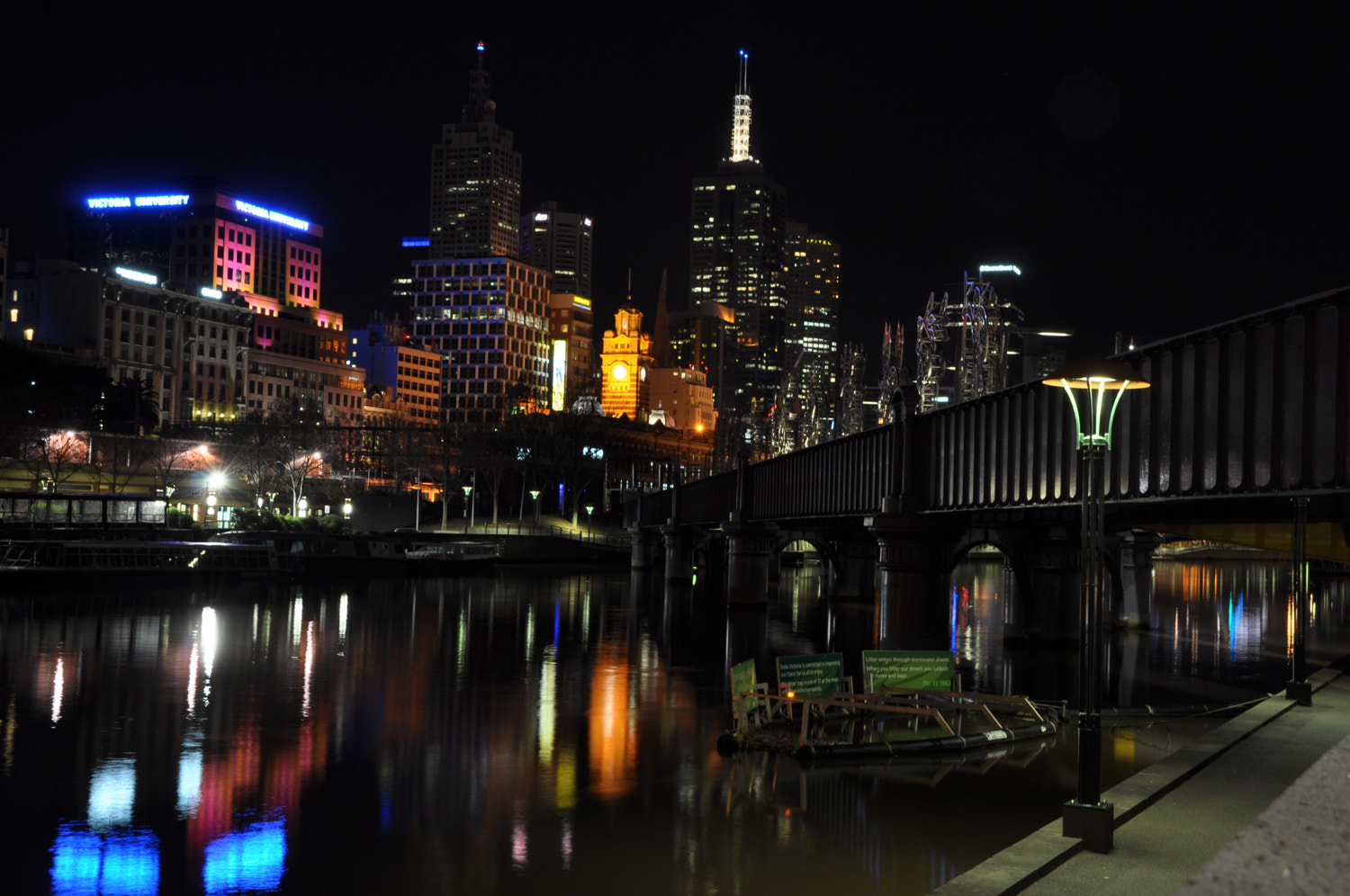 Photograph Southbank Melbourne Nightshot by Mark  on 500px