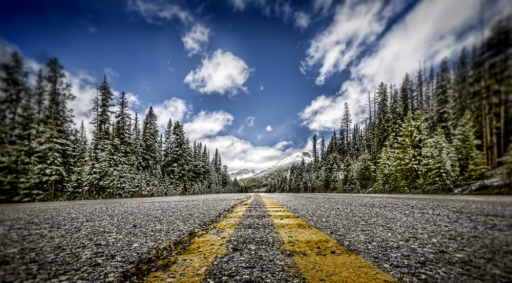 Photograph Roadview - Icefield Parkway by Philippe Brantschen on 500px