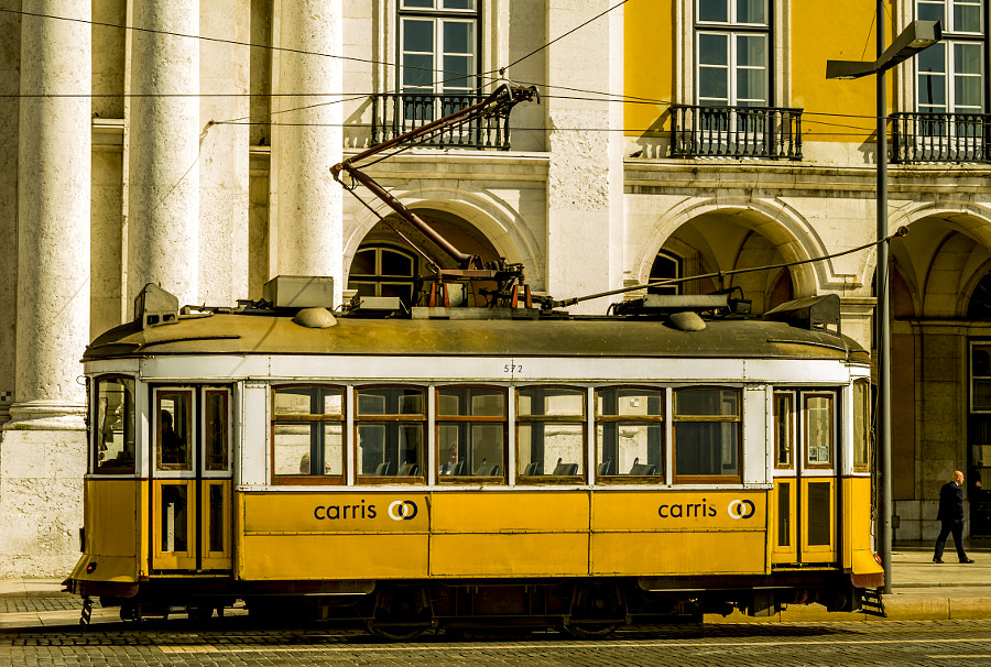 Photograph Old yellow Lisbon tram by Jakub Hajost on 500px