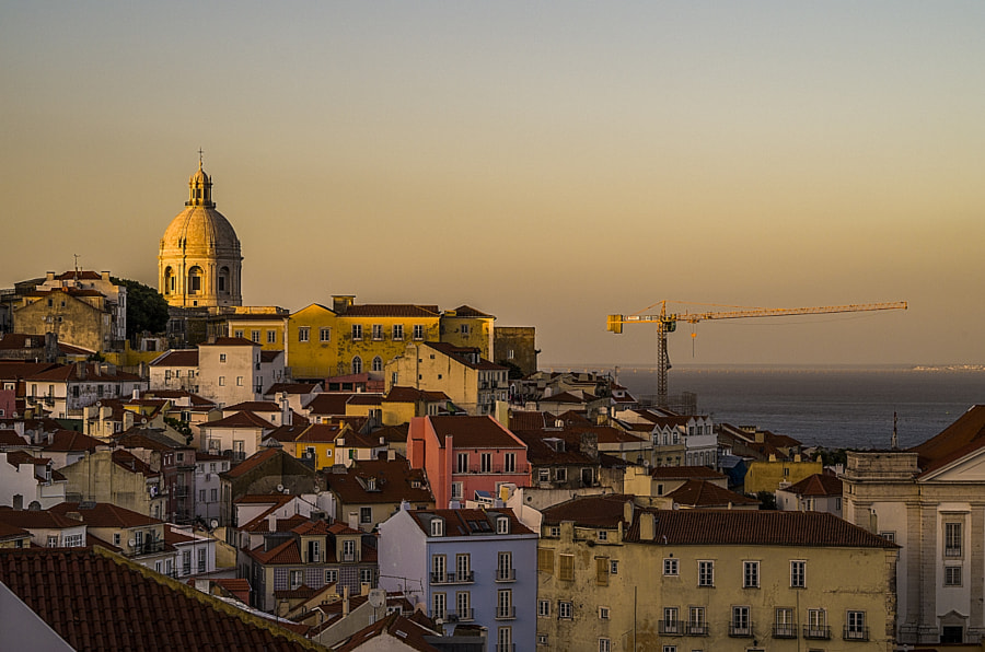 Photograph Sunset over Alfama district, Lisbon by Jakub Hajost on 500px