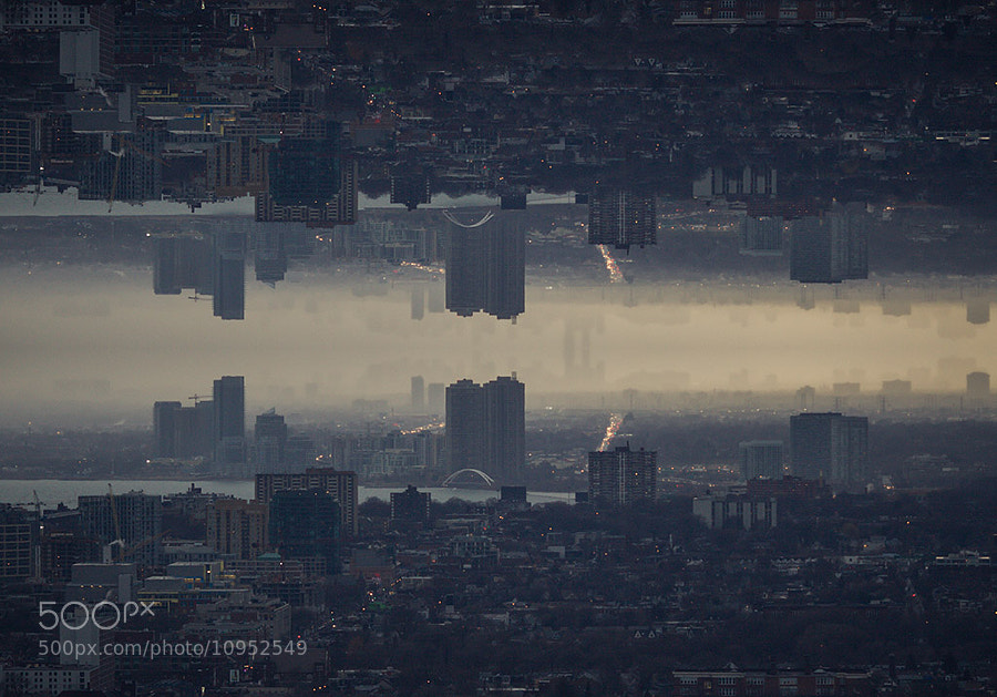 Photograph reflected cityscape by Roof Topper on 500px