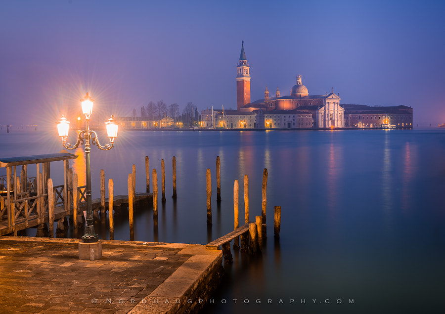 Fine Art Landscape Photography San Giorgio Maggiore, Night by nature and landscape photographer Dag Ole Nordhaug