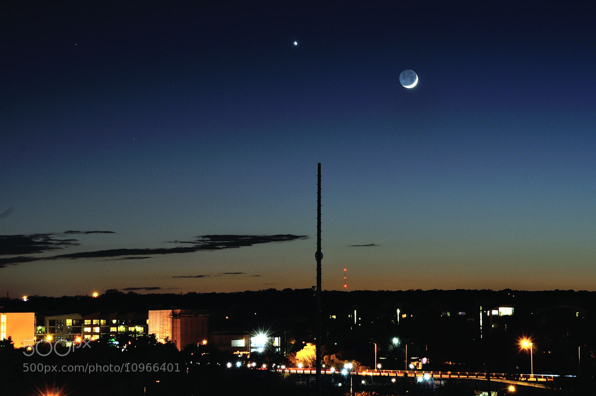 Photograph The Moon and Venus by Mark Stevens on 500px