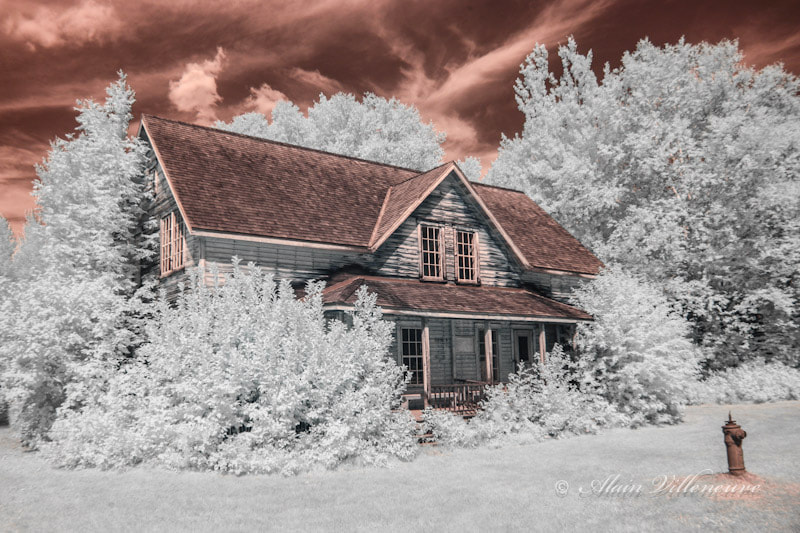 Photograph old house in infrared by Alain Villeneuve on 500px