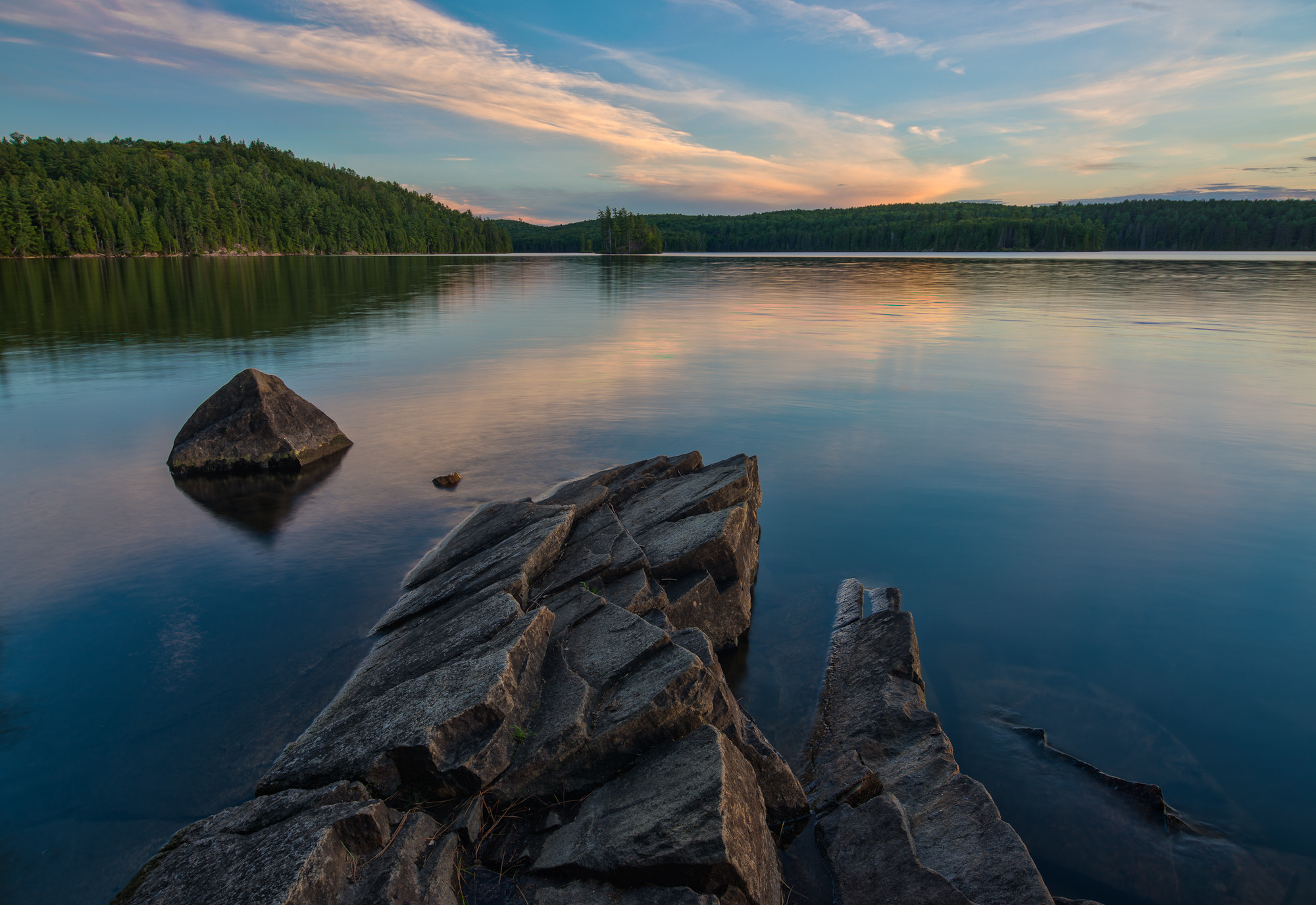 Photograph Sunset over Tom Thomson by Mike Last on 500px
