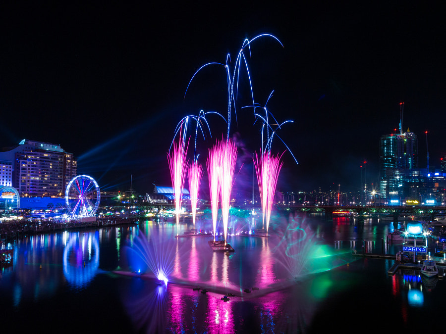 Photograph Vivid Sydney 2015 Darling Harbour Fireworks by Travis Chau on 500px