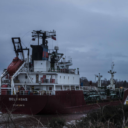 Boat on Manchester Ship Canal