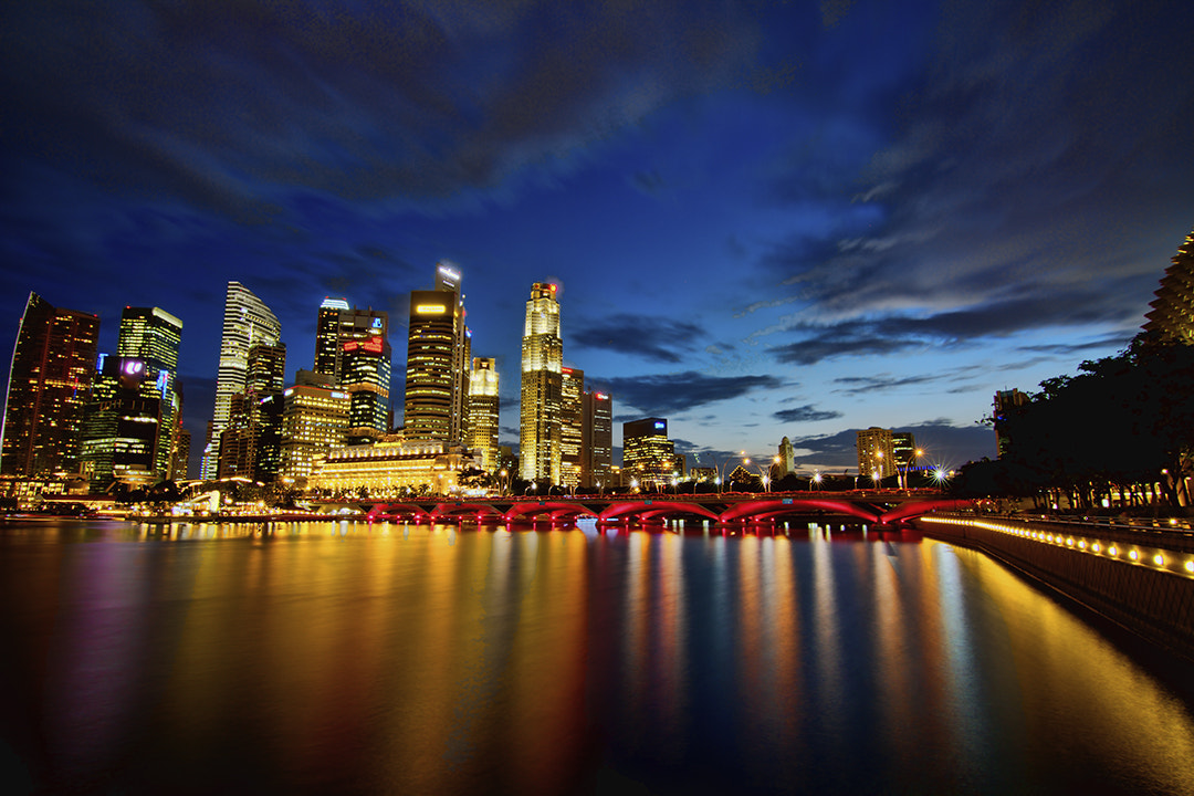 Photograph Blue Hour @ Marina Bay by tay choon guan on 500px