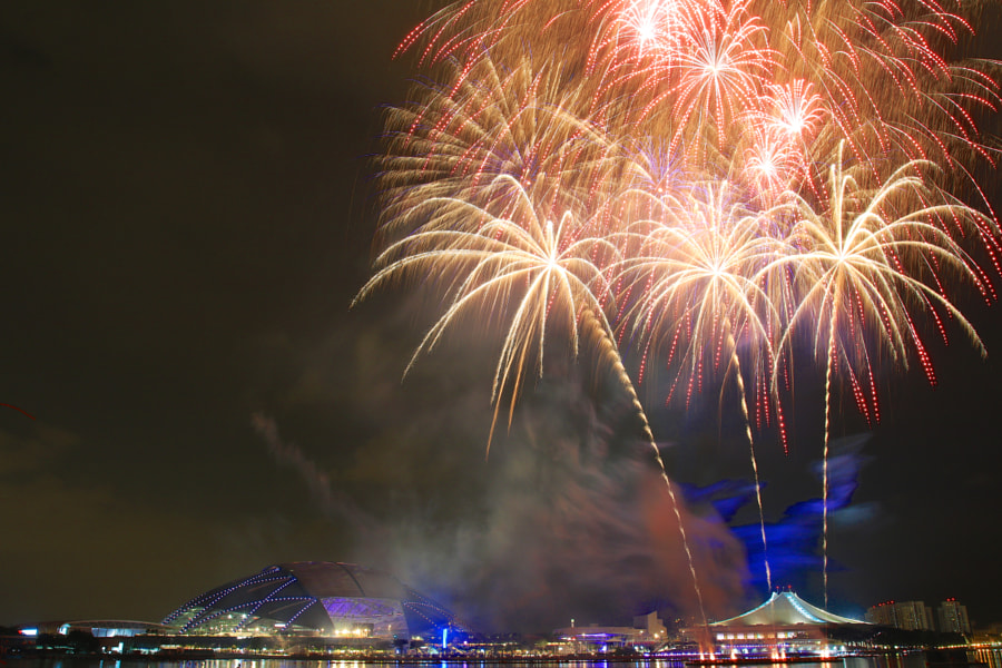 SEA Games 2015 Rehearsal Fireworks