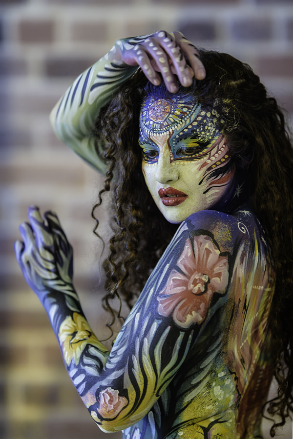 Photograph Body Painting Portrait 1 by cameraface on 500px