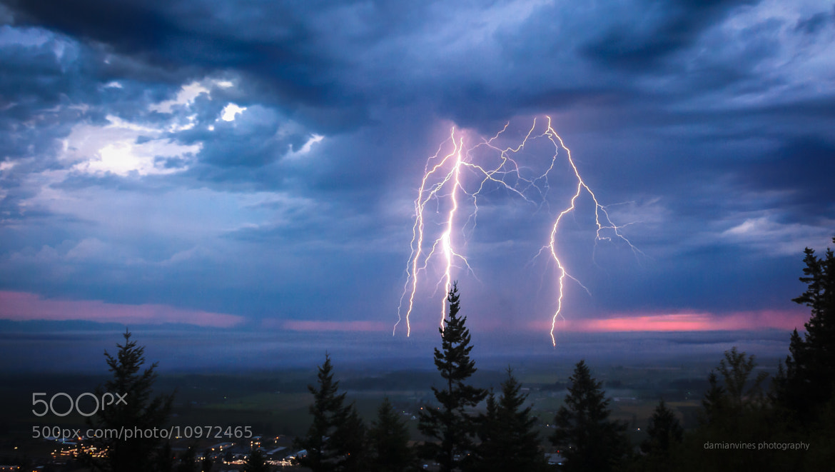 Photograph Lighting Strikes Mount Vernon by Damian Vines on 500px
