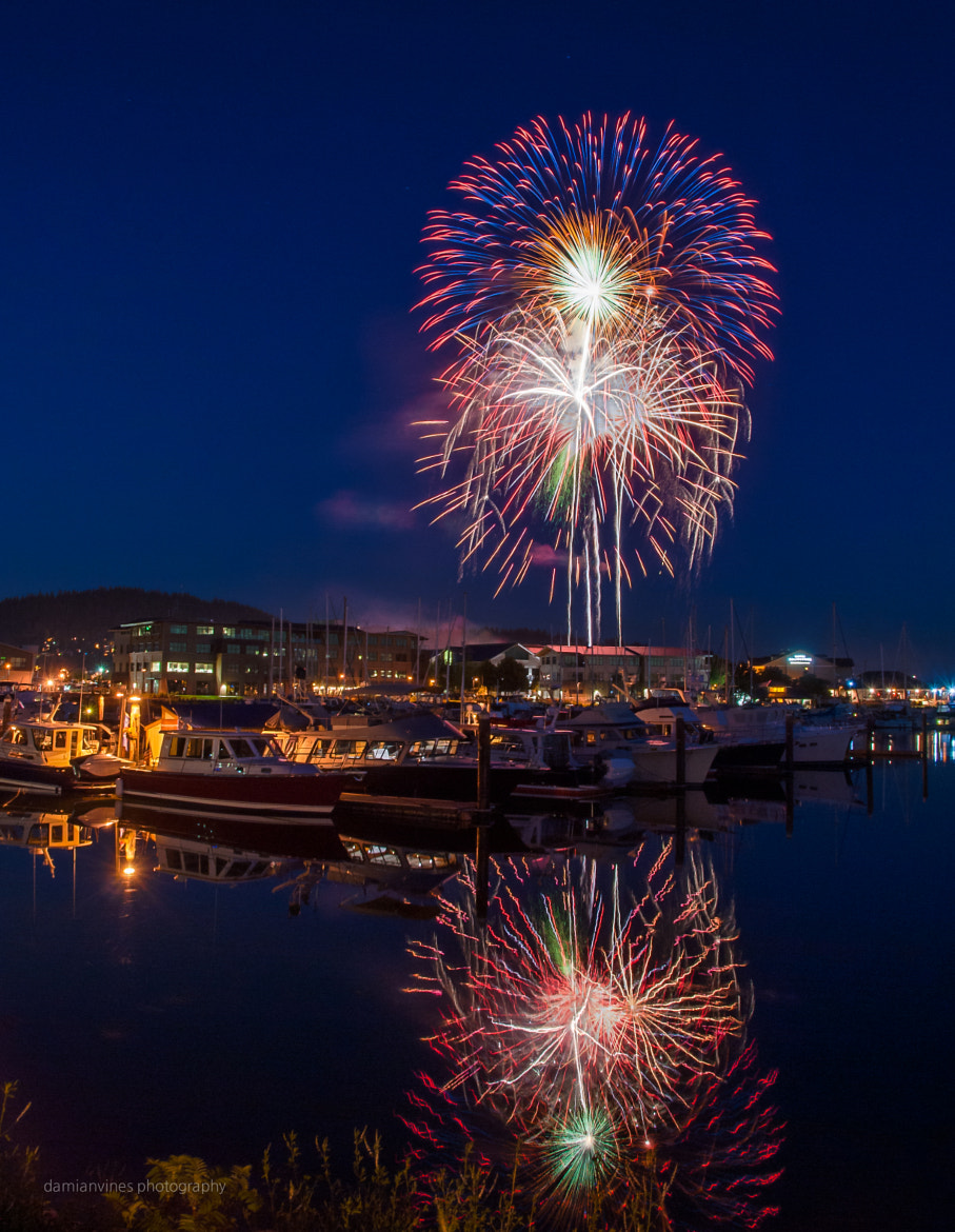 Photograph Fireworks at the Marina by Damian Vines on 500px