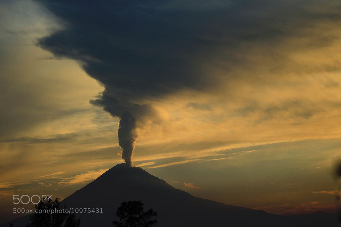Photograph Smoking volcano at sunrise by Cristobal Garciaferro Rubio on 500px