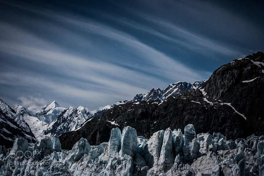 The sky above Marjerie Glacier was phenomenal. So much so that it almost overshadowed the impressive glacier for me. Believe me when I say that it really was as shown in this image.