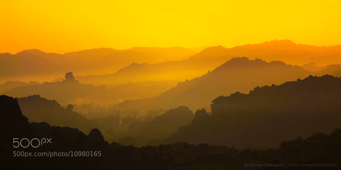 Photograph Sunrise from the Matunga Hill (Hampi) by Anton Jankovoy on 500px