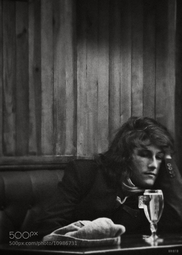 "Candid shot in a pub, near St Michel  <a href=""http://nightgrain.tumblr.com/"">Photoblog</a>"