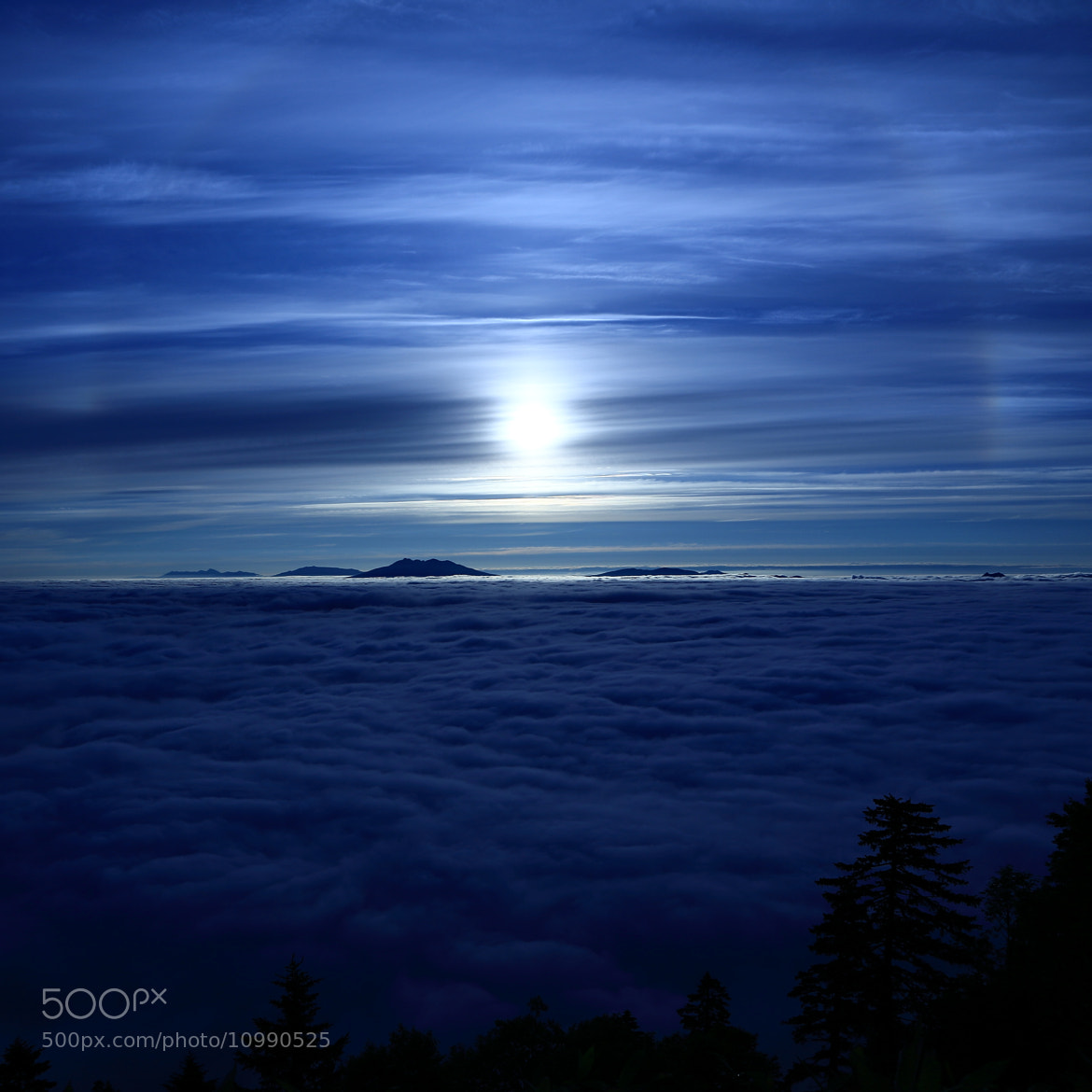 Photograph Sun halo(Sea of clouds) by yume . on 500px
