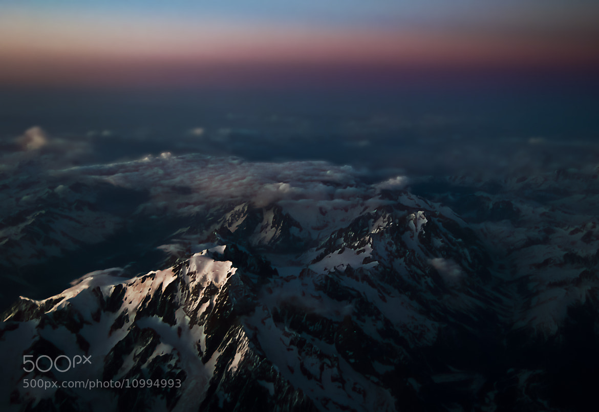 Photograph Sunset over the Alpes by Yacine Toumache on 500px