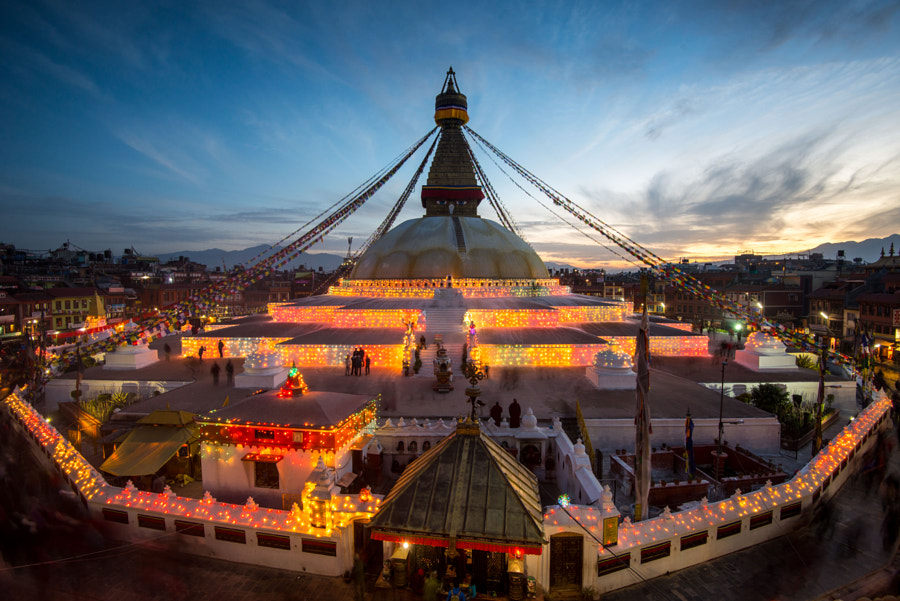 Boudhanath Sunset by Carlo Murenu on 500px.com