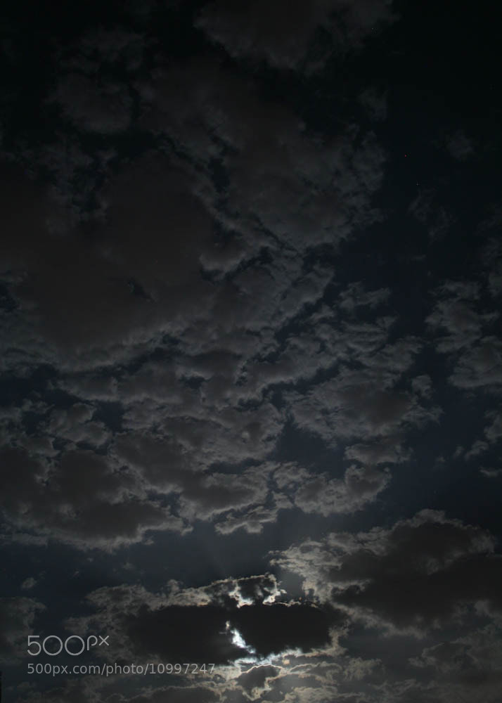 Photograph Moon behind clouds by Qmars Farahani on 500px