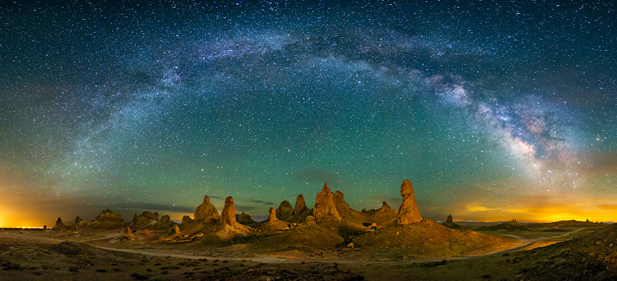Trona Pinnacles at Night by Wayne Pinkston on 500px.com