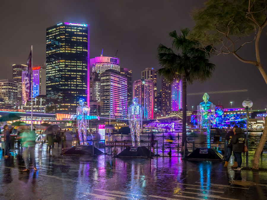 Photograph Vivid Sydney 2015 Down Pour by Travis Chau on 500px