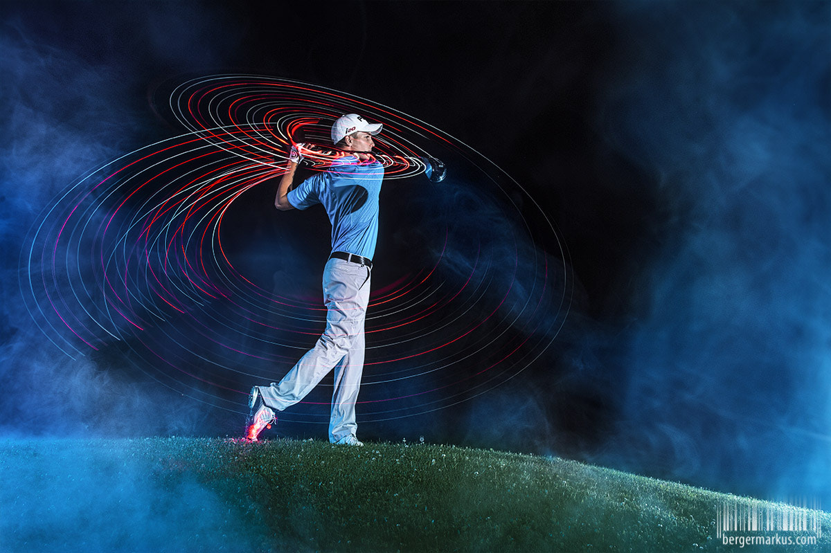 Photograph Golf Lightpainting by Markus Berger on 500px