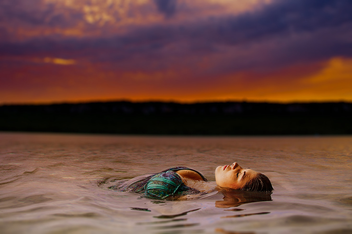 Photograph Sunset Swim by Chris Ricker on 500px