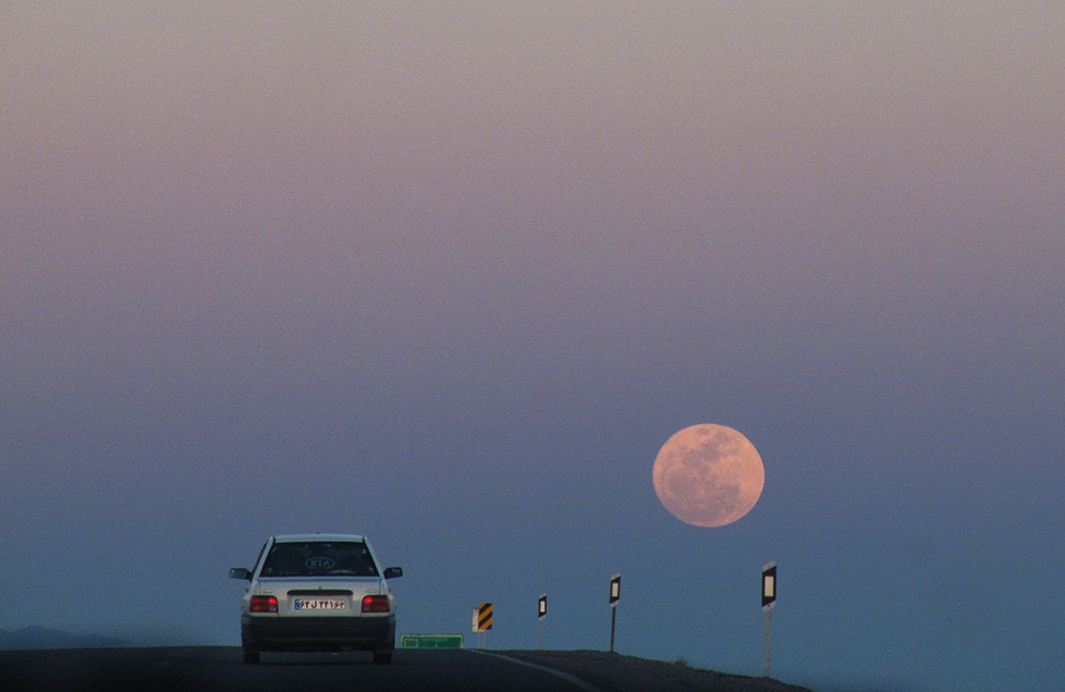 Photograph Moon & Road ! by Amin Abedini on 500px
