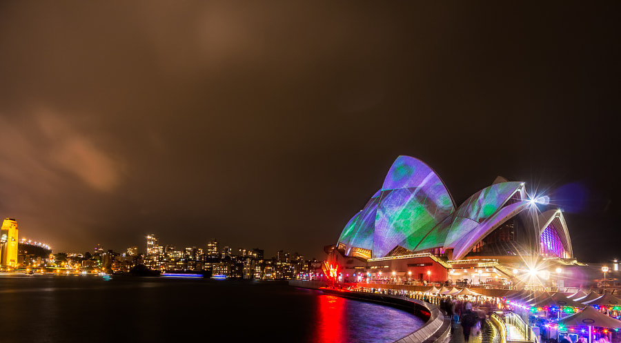 Photograph Vivid Sydney 2015 Sydney Opera House by Travis Chau on 500px