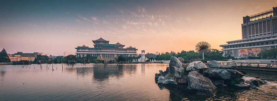 Photograph Sunset view of the Grand People's Study House by Reuben Teo on 500px