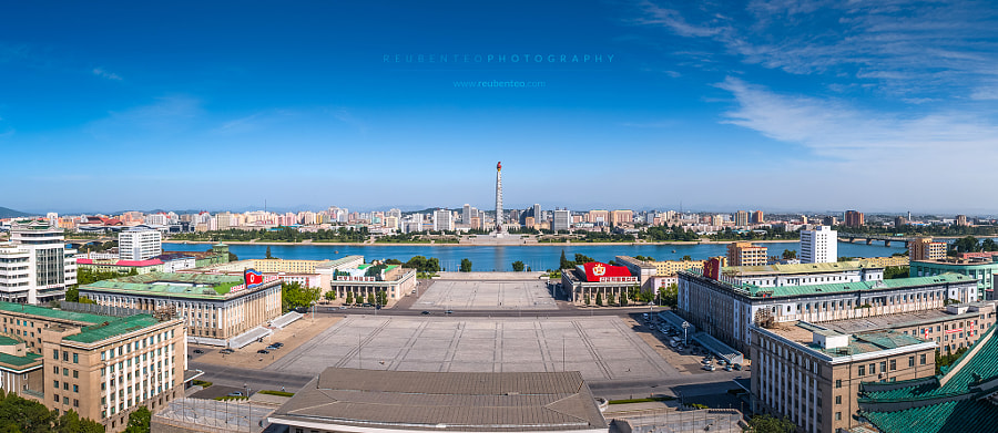 Photograph Juche Tower & Kim Il-Sung Square by Reuben Teo on 500px