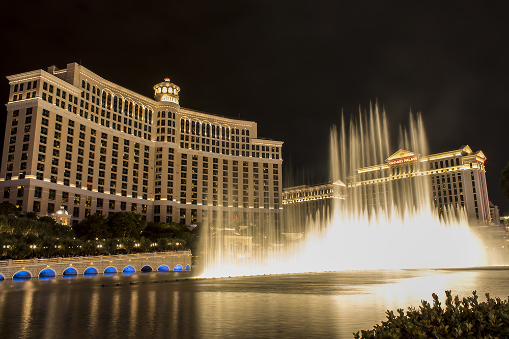 Magical Bellagio fountains in Las Vegas
