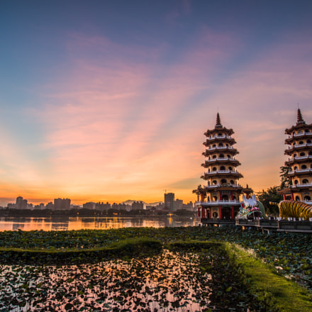 Dragon and Tiger Pagoda Sunrise