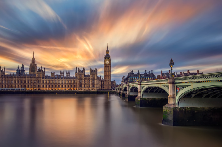 sunset at big ben by Yihui Wu on 500px.com