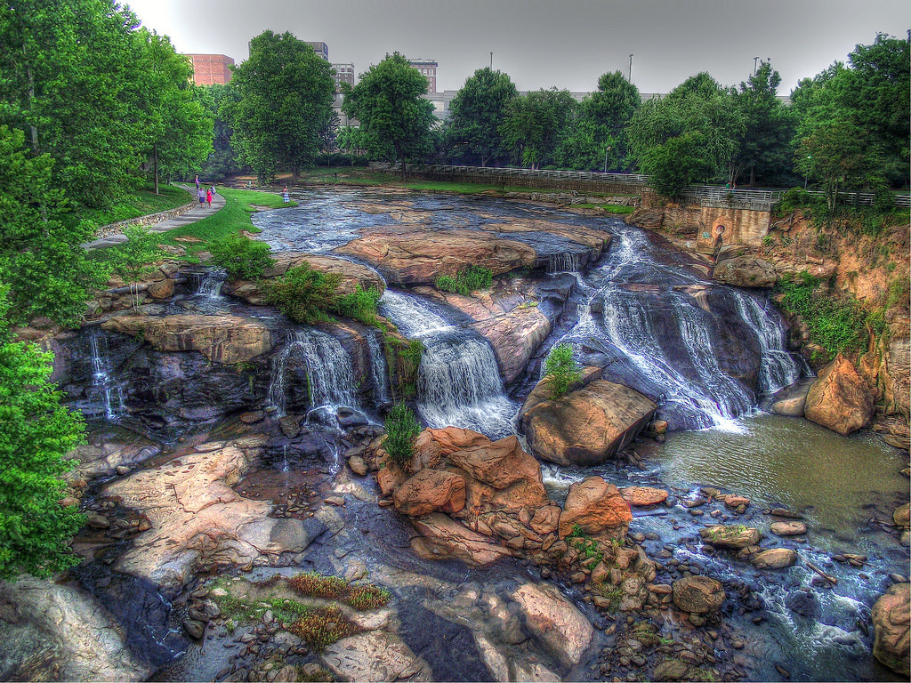 Photograph Amazing Day in Falls Park by Brian Matthews on 500px